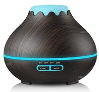 400ml Electric Aroma Air Humidifier Essential Oil Diffuser Wood Aromatherapy Night Light Aroma Diffuser Mist Maker
