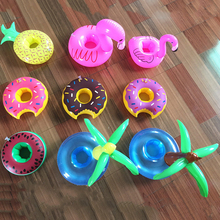 1Pcs Mini Cute Funny Toys Red Flamingo Float Inflatable Drink Holder Swimming Pool Bathroom Beach Party Kids Bath Toy CBT04