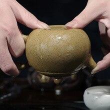 Beauty authentic Yixing teapot famous handmade teapot purple clay ore section of sesame pot of Kung Fu Tea Pot 023