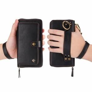 Image 5 - Purse Wristlet Phone Case For coque huawei p30 pro lite nova4e Funda Etui Luxury Leather Protective Wallet Phone Shell Cover bag