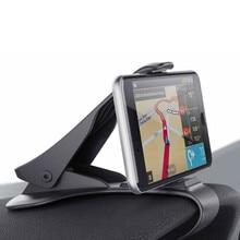 Soporte de teléfono para coche de tablero pulgada 6,5, soporte de montaje fácil con Clip, soporte de teléfono para automóvil, soporte de pantalla GPS, soporte de coche negro clásico