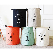 New Large Laundry Hamper Bag Cartoon lovely Clothes Storage Baskets Home clothes barrel Bags kids toy storage laundry basket