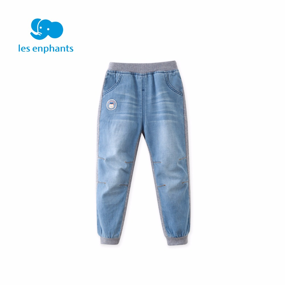 les enphants 2018 New Fashion Kids Boy Long Pants Spring Autumn Cotton Trousers Casual Slim Pant Jeans High Quality