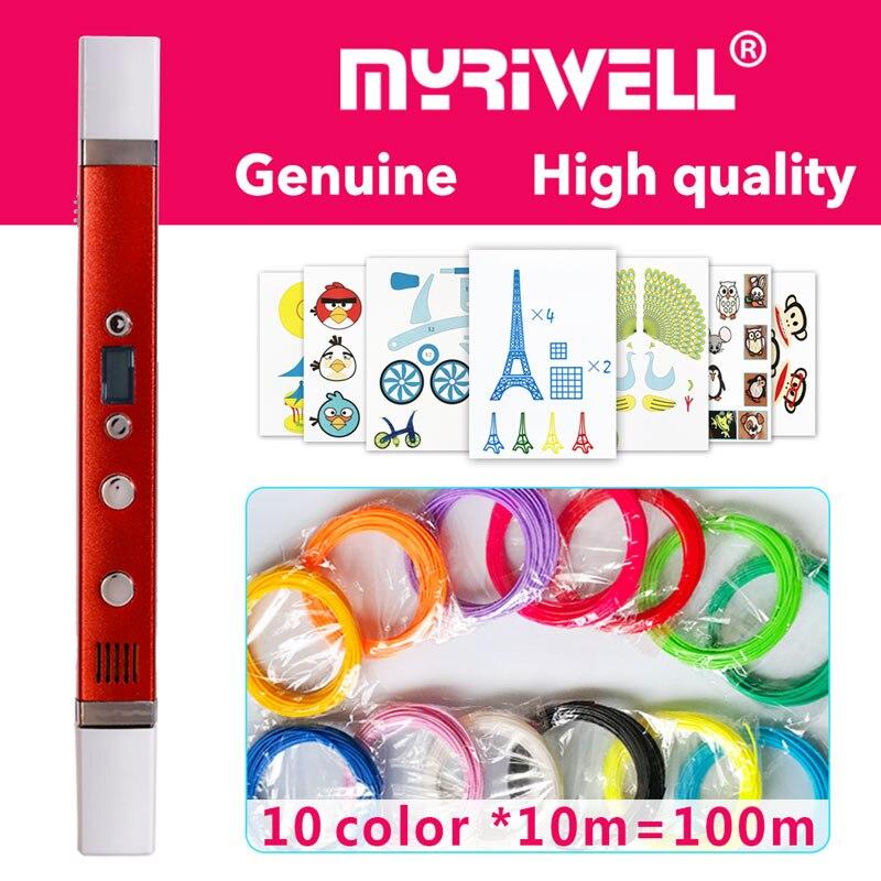 myriwell 3d pen 3d pens,LED display,USB Charging,3 d pen3d model Smart3d printer pen-3d magic penChildren giftspen 3 d pens