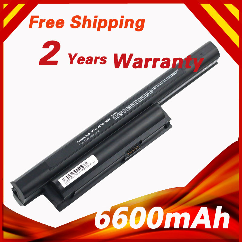 6600mAh 10.8V Laptop Battery for Sony VGP-BPS22 VGP-BPS22A For VAIO VPC-E1Z1E VPC-EA1 VPC-EA16EC VPC-EA18EC VPC-EB15GB компьютерные аксессуары for sony vaio sony vpc ea sony p n 148792241 mp 90l16fo 886 fr vpc ea series