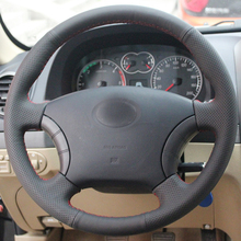 цена High Quality cowhide Top Layer Leather handmade Sewing Steering wheel covers protect For Great Wall Haval Hover H5 Wingle 5 онлайн в 2017 году