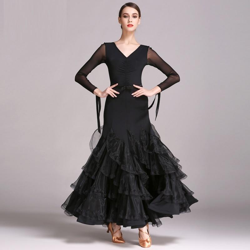 3420f3e079c black ballroom dance dresses standard ballroom dancing clothes Competition  standard dance dress waltz modern dance dress Foxtrot