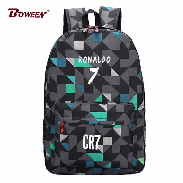Online Shop Teen Backpack Men School Bags for Teenagers Boys Book Bag Back  Pack Ronaldo kids Bookbags for Children Cool back bag bagpack  3cb81e71355c6