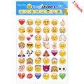2 Folhas 48-Style Corte Emoji Sorriso da Etiqueta Do Telefone Móvel para Notebook Mensagem Alta Vinil Engraçado Criativo Frete Grátis