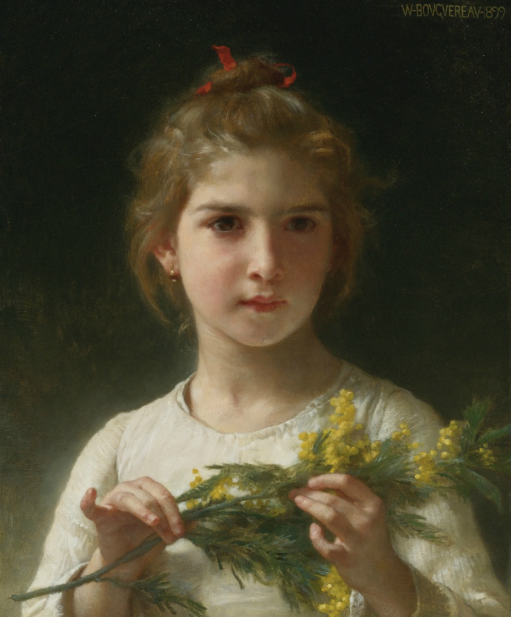 Handmade Oil painting reproduction Mimosa by William Bouguereau