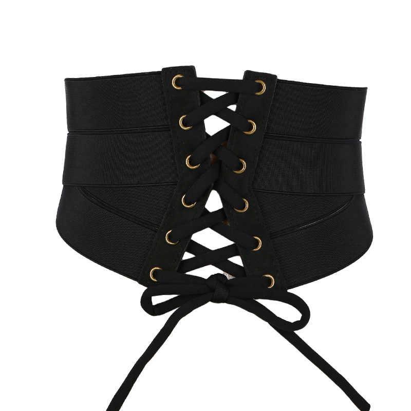 أسود القوس أضعاف Cummerbunds الإناث امرأة حزام سستة cummerbund أحزمة النساء واسعة فاسق برشام فساتين راقية صدرية سيدة