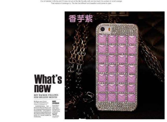 For Huawei P7 case rhinestone mobile phone cases Transparent case protective cover colorful glossy case 16