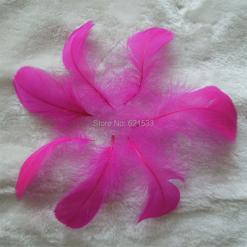 GOOSE COQUILLE FEATHERS,Rose/Hot Pink,200pcs,8-12cm,used for crafts,earring,flower making,costume making,table confetti etc