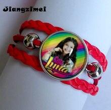 1pcs (8 projetos) super pop cantor soy luna elenco de soja luna prata pulseiras eu sou lua de vidro mão corrente pulseira