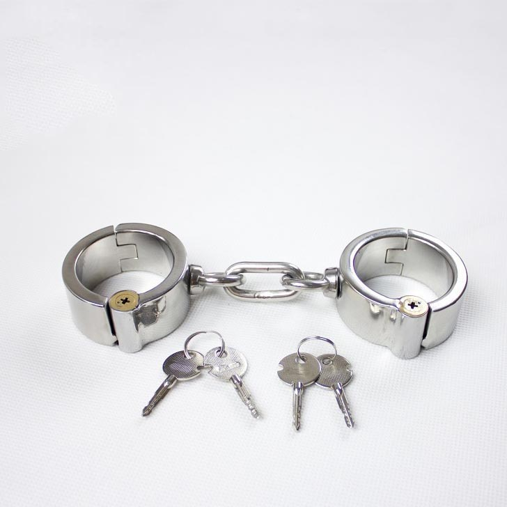 Top stainless steel handcuffs metal bondage hand cuffs adult games slave bdsm wrist restraints sex toys products for couples high quality color toner powder compatible for oki c9300 free shipping