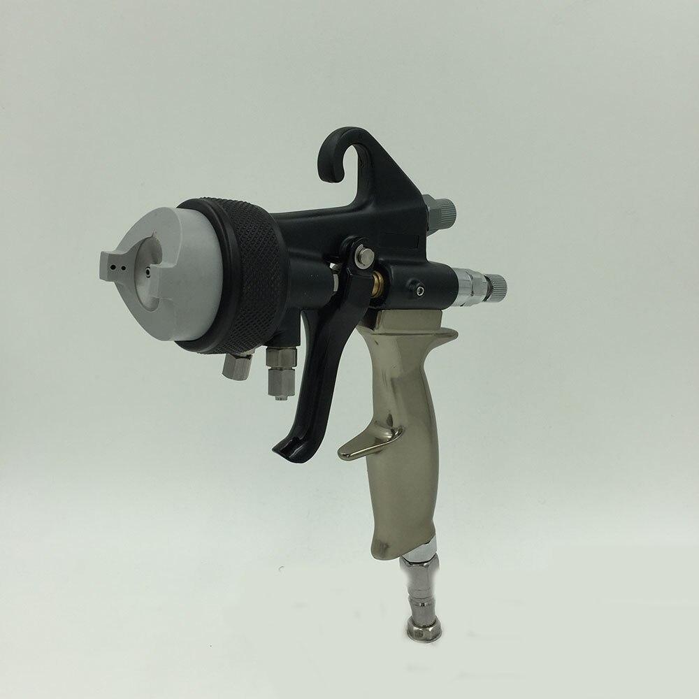 SAT1205 профессиональный пневматический пистолет краски высокого давления власти Пистолет двойного сопла воздуха краски пистолет для Серебр