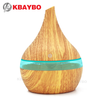 KBAYBO 300ml USB Electric Aroma Air Diffuser Wood Ultrasonic Air Humidifier Essential Oil Aromatherapy Cool Mist
