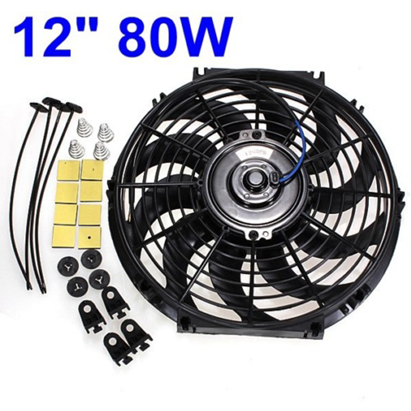 Universal Electric Radiator Fan 12V 80W MASO 12/ Car Engine Cooling Fan