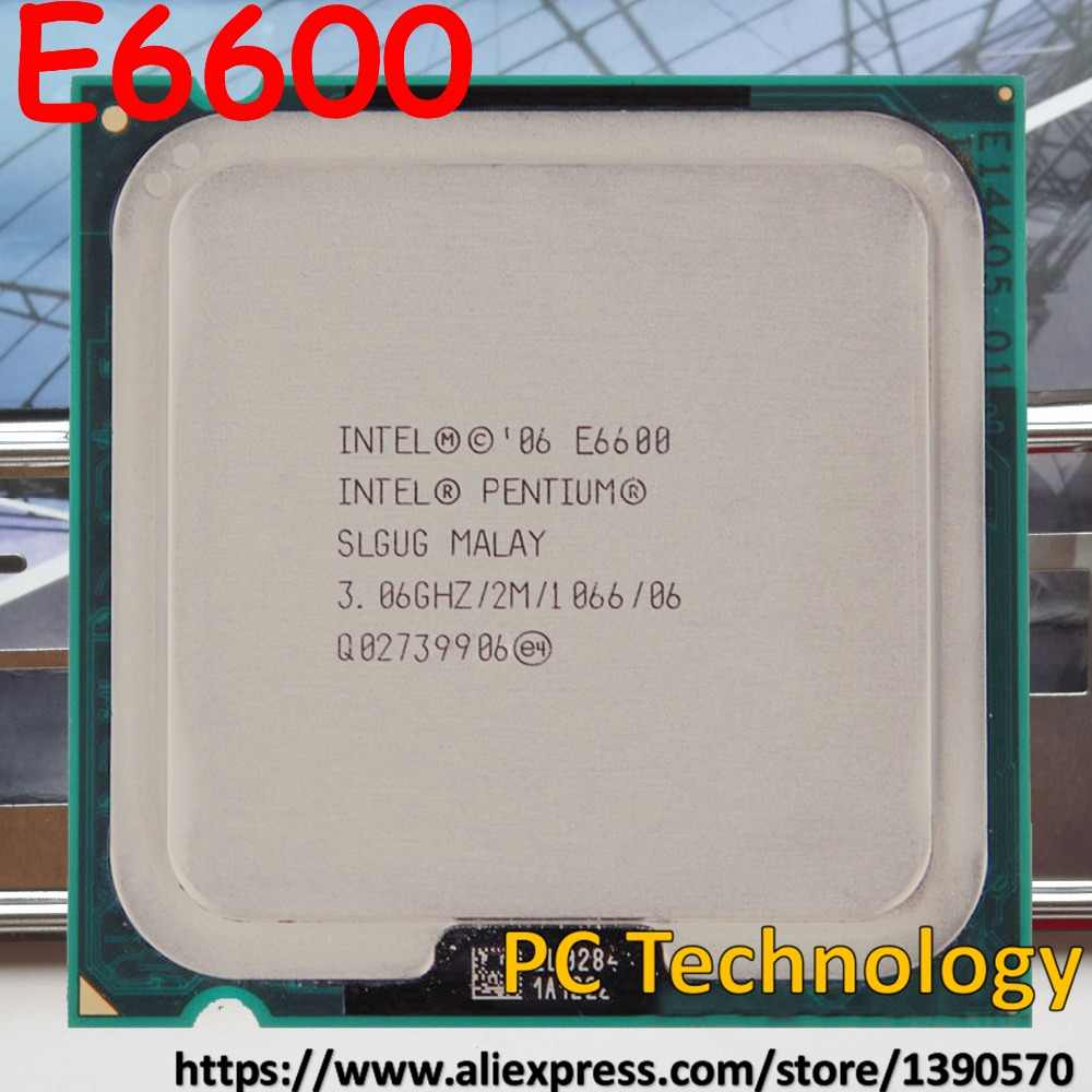 Original Intel E6600 pentium E 6600 Desktop CPU 2M Cache,3.06GHz,1066 MHz free shipping (ship out within 1 day)