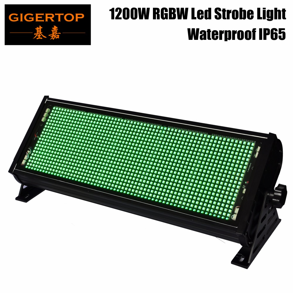 Gigertop TP-S1200RGBW Waterproof RGBW 1200W Led Strobe Light For Stage Party Wedding Disco Using DMX 512 Control 7/18 Channels