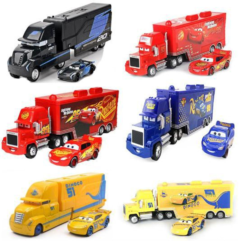 Disney Pixar Cars 3 Mack Lightning McQueen Uncle Truck 1:55 Diecast Model Car Toy Children's Birthday Gift Alloy Jackson Storm