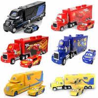 Disney Pixar Cars 3 Mack Lightning McQueen Uncle Truck 1:55 Diecast Model Car Toy Children's Birthday Gift alloy Jackson Storm