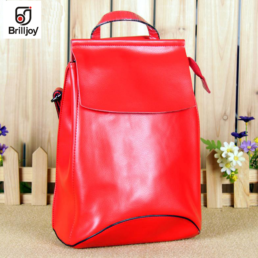 Brilljoy 2018 Designer Women Backpacks Leather Rucksack School Bag Teenagers Women Backpack Travel Bolsas Mochila versatile bags logo messi backpacks teenagers school bags backpack women laptop bag men barcelona travel bag mochila bolsas escolar