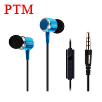 3 5mm In Ear Metal Earphones Super Bass Headphone With Microphone Hifi Earbuds And Stereo Earpods