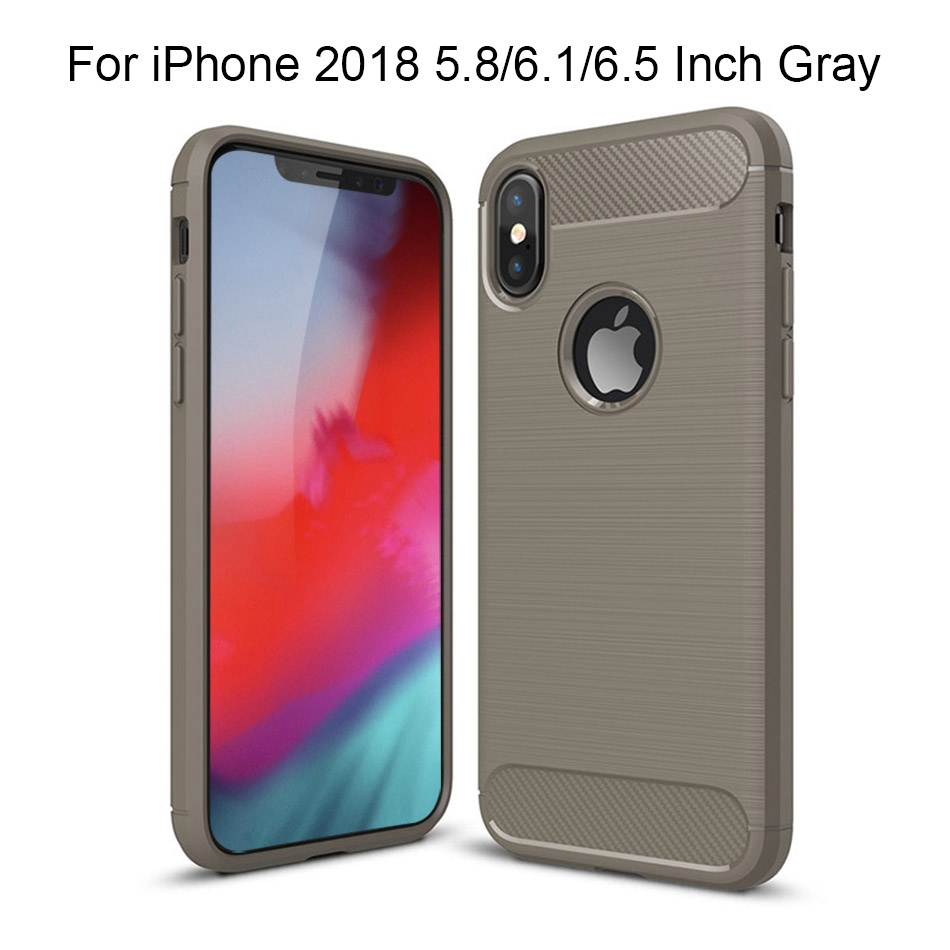 TOMKAS Phone Case Carbon Fiber Cover For iPhone XS Plus X 2018 5.8 6.1 6.5 Inch Soft TPU Silicon Case Protective Back Cover 2018 (16)