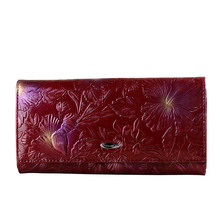 Embossing Flower Genuine Leather Women Wallet Brand Female Wallets Fashion Hasp Women Leather Purse Real Leather Wallet Clutch