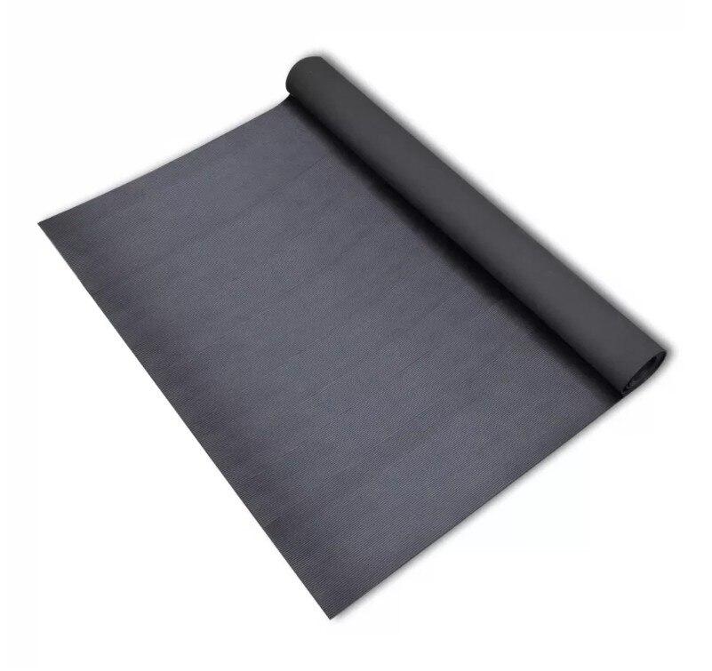 Tapis de porte tapis de sol en caoutchouc paillasson personnalisé noir paillasson en caoutchouc tapis dans le couloir lavable en Machine anti-dérapant 7' x 3' fin nervuré