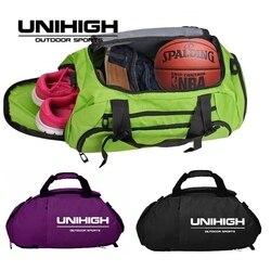 متعددة الوظائف حقائب الجيم للماء الظهر مساحة منفصلة للأحذية الرجال النساء النايلون حبال الكتف التدريب السفر الرياضة أكياس
