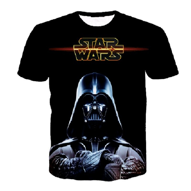 Hot Darth Vader Eulogy 3D Print T-shirt Star Wars Unisex Tee Shirts Plus Short Sleeve Casual Homme Loose Summer Tops