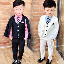 Flower Boys White Blazer Wedding Suit Brand Kids Ceremony Fo