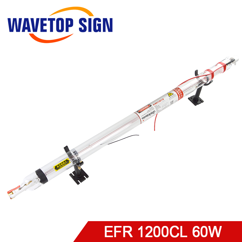 EFR Laser tube 60W 1200CL length 1200mm diameter 55mm maxpower 60w CO2 Laser Tube use for laser engraving and cutting machine co2 laser engraving tube 60w diameter 55mm l1200mm glass head laser lamp for cutting marking machine