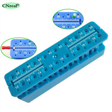 1 pc Dental Endo Measuring Block Measurement Endodontic Ruler Dentist Equipment