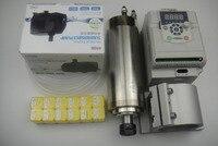 CNC kit ER20 2.2KW eixo de refrigeração de água + suporte do eixo do eixo + pinças + inverter + 1 2.2KW ER20 água tubulação de água da bomba + 1