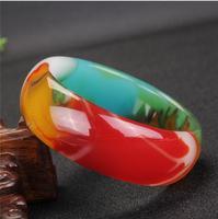 Ice type emerald color quartz rock jade bracelet genuine violet bracelet female jade bracelet