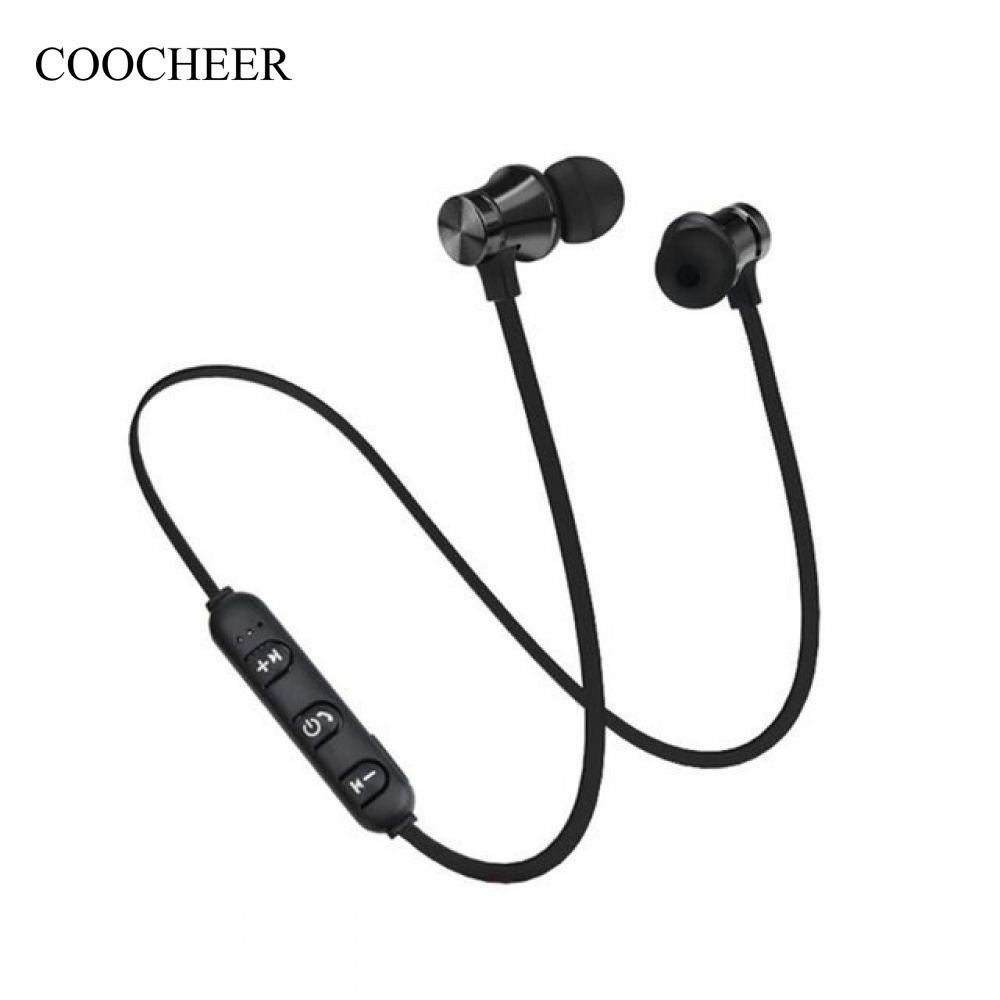 Bluetooth Headphones Bluetooth 5.14 Earbuds with Mic- Sweat-Proof IPX7 Wireless Sport Headphones Black Magnetic Noise Cancelling Earbuds