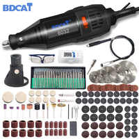 180W Electric Grinder Mini Drill Rotary Tool Polishing Machine Power Tool Variable Speed Engraving Pen with Dremel Accessories