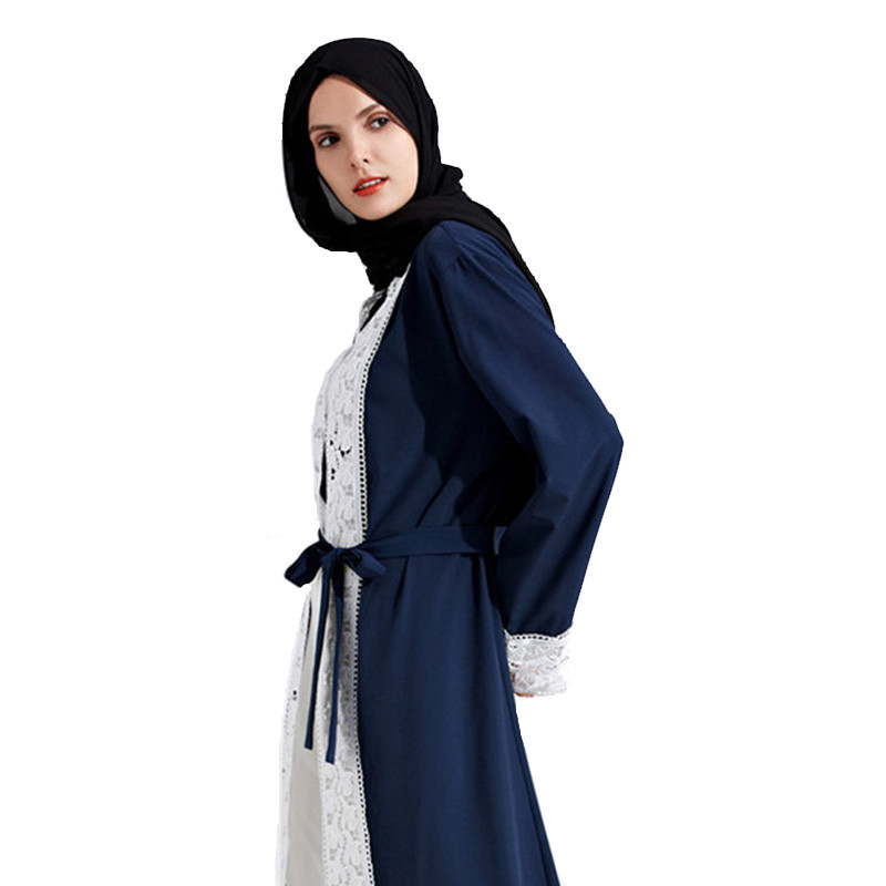 2019 New muslim dress abayas for women baju muslim wanita moroccan robe orientale musulman open abaya robe dubai