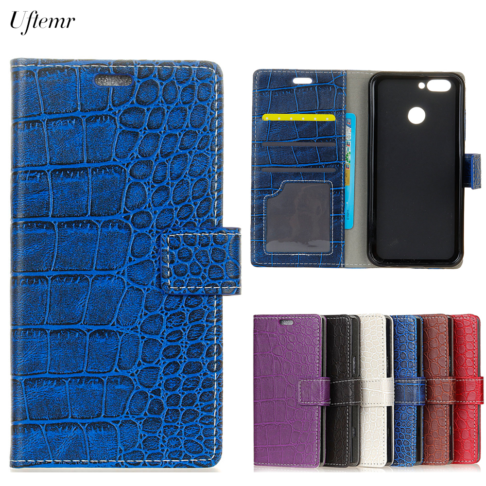 Uftemr Vintage Crocodile PU Leather Cover For Huawei Nova 2 Silicone Case For Huawei Nova 2 Wallet Card Slot Phone Acessories