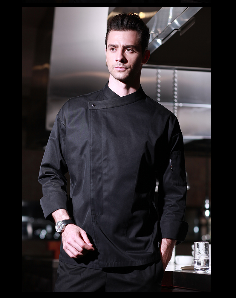 Hot Unisex Food Service Clothing Chef Uniform Jacket Restaurant Hotel Working Wear Long Sleeve Breathable Fabrics 112