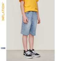 INFLATION Summer Boys Jeans Shorts Kids Casual Denim Children Soft Cotton Jeans Short For Boy 5 10 Years Straight Pants 9599S