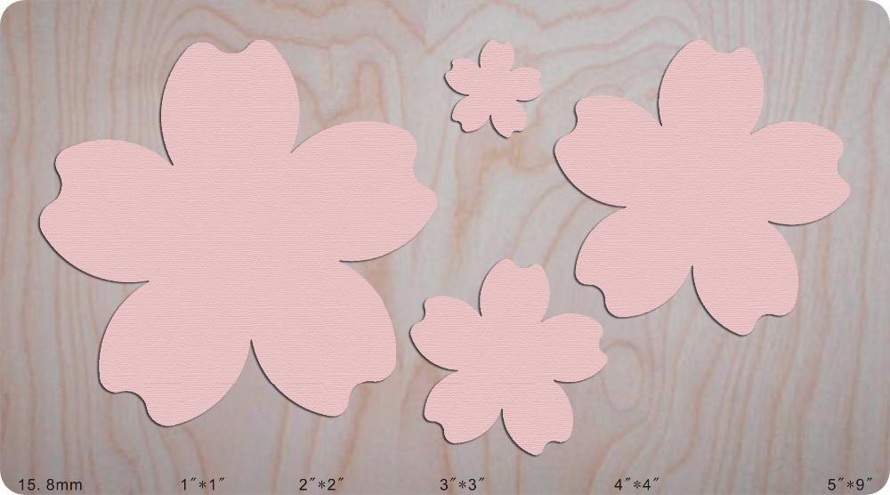 Feuilles roses MY3113 nouvelles matrices de découpe de moules en bois pour scrapbooking Thickness 15.8mm/muyu/MY3113-in Matrices à découper from Maison & Animalerie    1