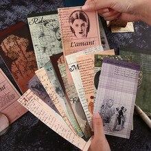 Rękopis pisarza notatnik N razy kartki samoprzylepne notatnik notatnik Vintage naklejki do planowania zakładki papiernicze
