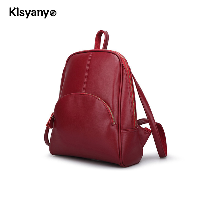 Klsyanyo Cow Genuine Leather Women Backpack Zipper School Bags for Teenagers Girls Female Shoulder Bag Mochila Feminina 2016new rucksack luxury backpack youth school bags for girls genuine leather black shoulder backpacks women bag mochila feminina