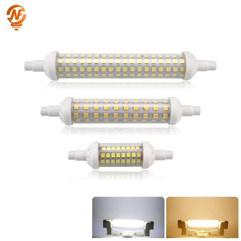 R7S LED Lamp 12W 9W 6W SMD 2835 78mm 118mm 135mm R7S LED Light Bulb AC220V Energy Saving Replace Halogen Light