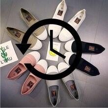 Мода 2017 г. женские лоферы парусиновая обувь слипоны Оксфорд Туфли без каблуков каблуки эспадрильи без шнуровки Удобная Mix-Цвет Белый Черный 9
