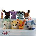 1pcs 12CM Pokemon Plush Cute Eevee Flareon Vaporeon Jolteon Eevee Leafeon Glaceon Umbreon Espeon Plush Toy Baby Soft Stuffed Toy